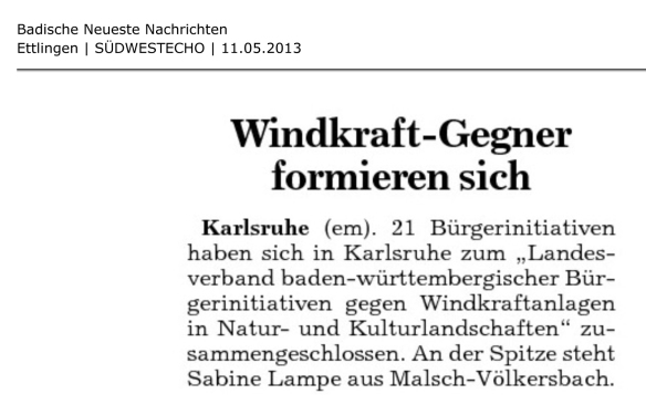 Windkraftgegener formieren sich